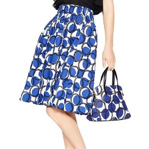 Kate Spade New York stamped dots blaire skirt